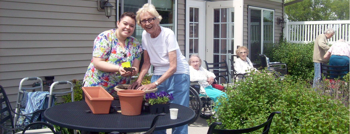 Outdoor Patio & Gardening Activities at Valley View Estates